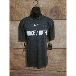 NIKE MENS BSBL SWOOSH GRAY BASEBALL SHIRT SWINGMAN
